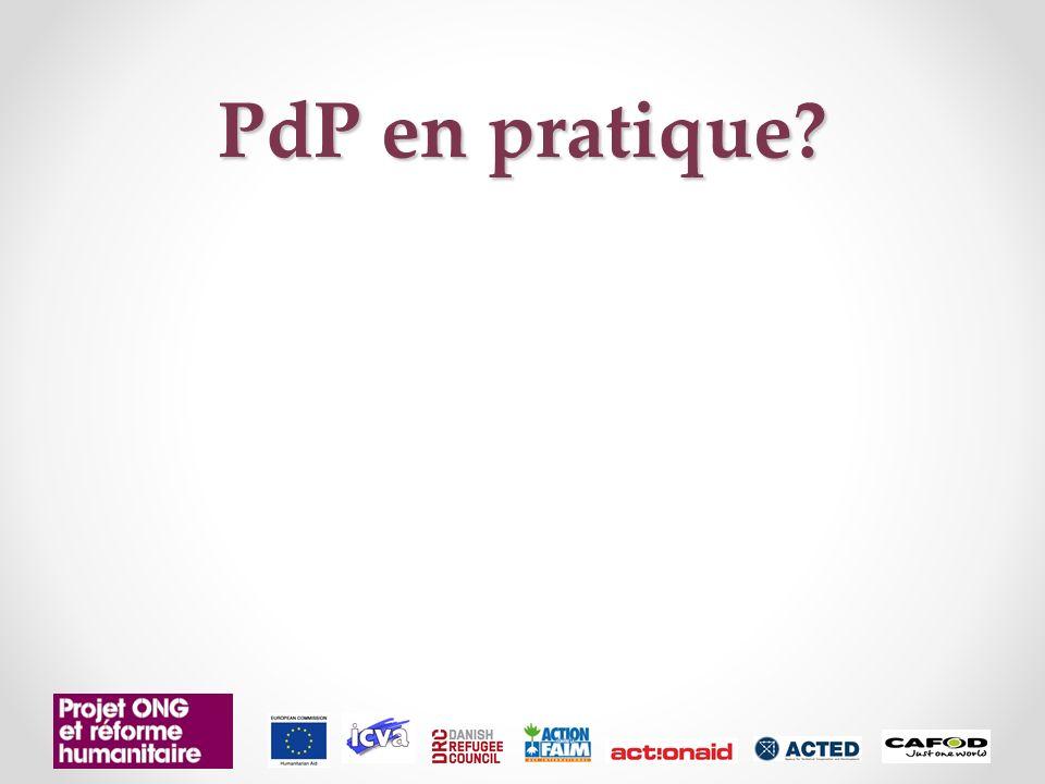 PdP en pratique?
