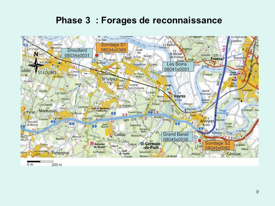 9 Phase 3 : Forages de reconnaissance