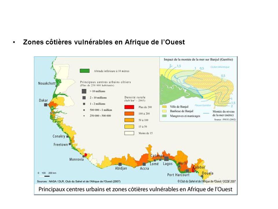 Zones côtières vulnérables en Afrique de lOuest