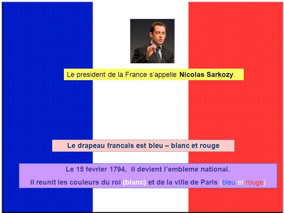 Le president de la France sappelle Nicolas Sarkozy.