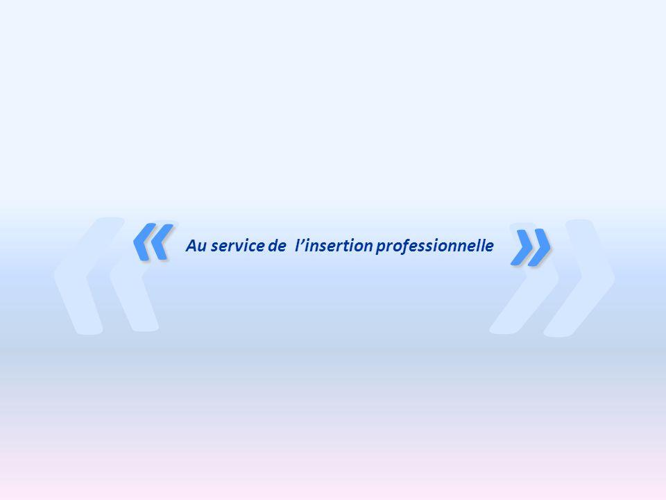 » « « » Au service de linsertion professionnelle