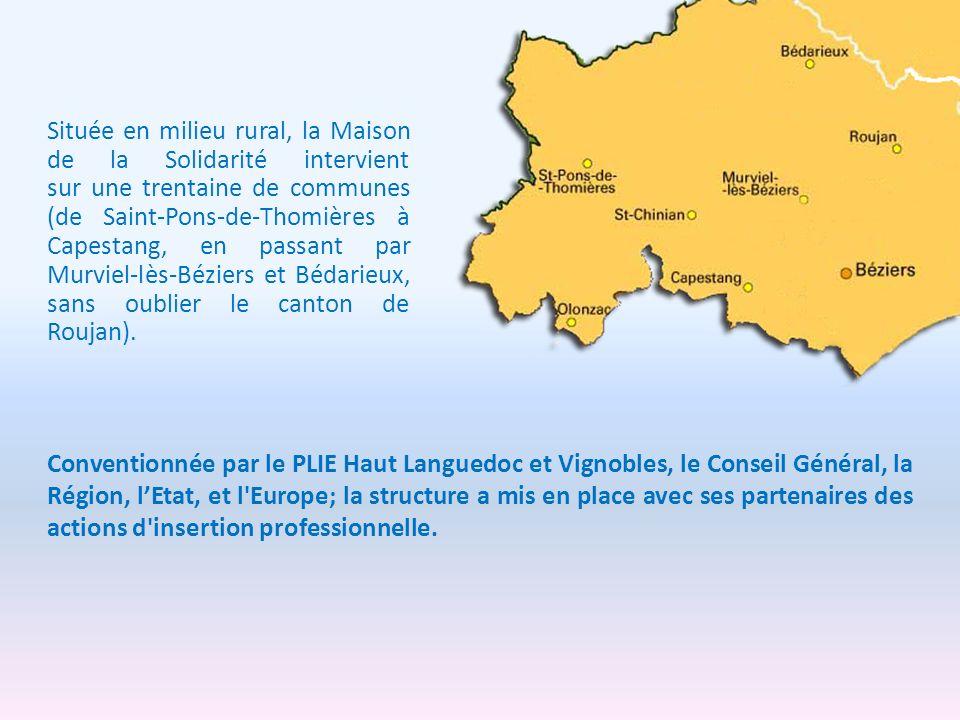 Située en milieu rural, la Maison de la Solidarité intervient sur une trentaine de communes (de Saint-Pons-de-Thomières à Capestang, en passant par Mu