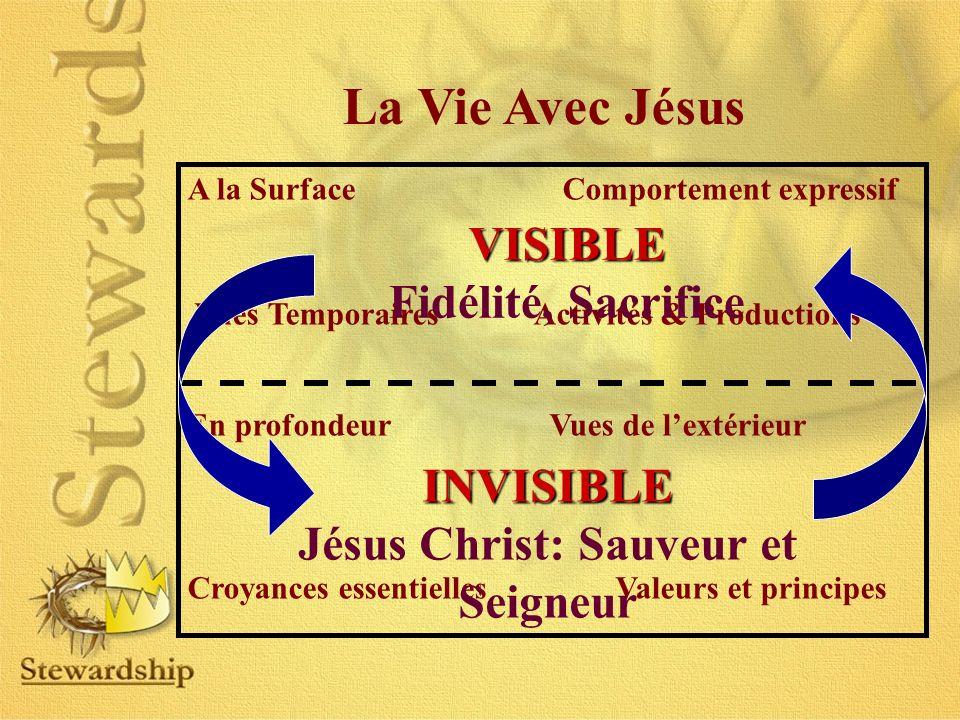 La Vie Avec Jésus A la Surface Comportement expressif Vues Temporaires Activités & Productions En profondeur Vues de lextérieur Croyances essentielles