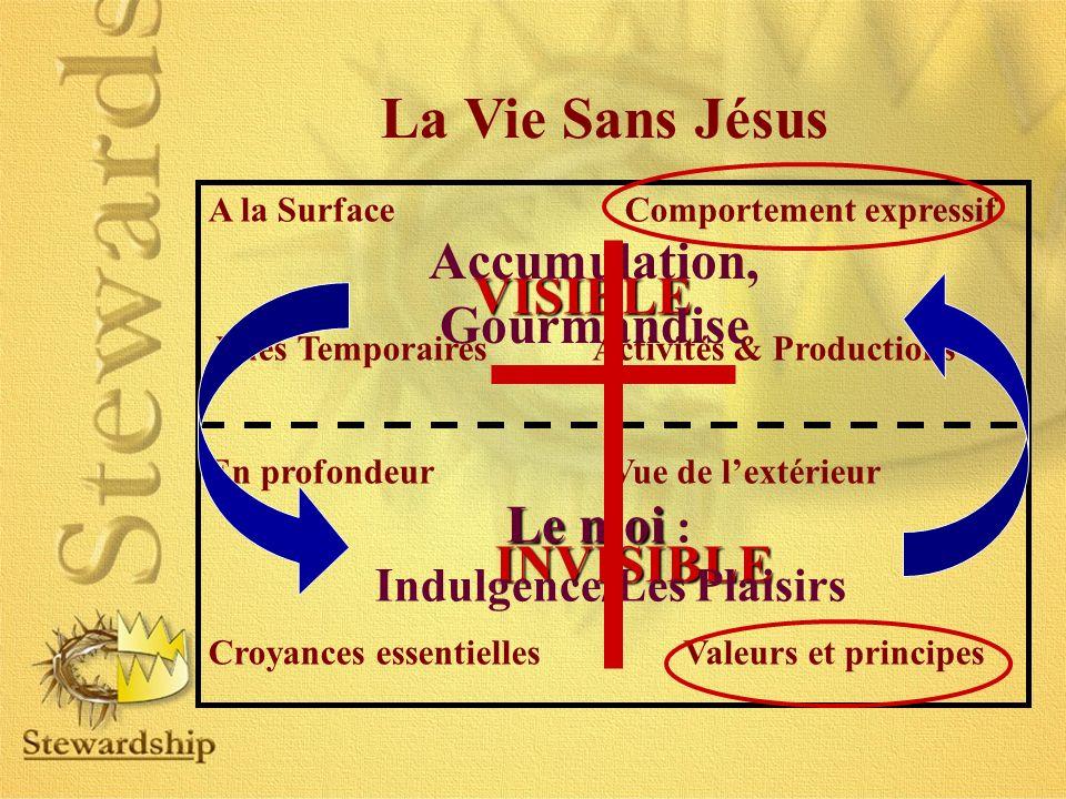 La Vie Sans Jésus A la Surface Comportement expressif Vues Temporaires Activités & Productions En profondeur Vue de lextérieur Croyances essentielles