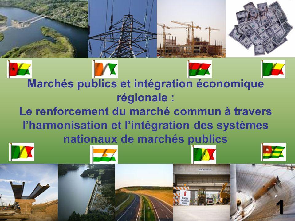 2 I - Contexte II - Mécanismes de contrôle par les pairs des marchés publics marchés publics III - Surveillance régionale multilatérale et monitoring monitoring IV - Perspectives PLAN DE LA PRESENTATION 2