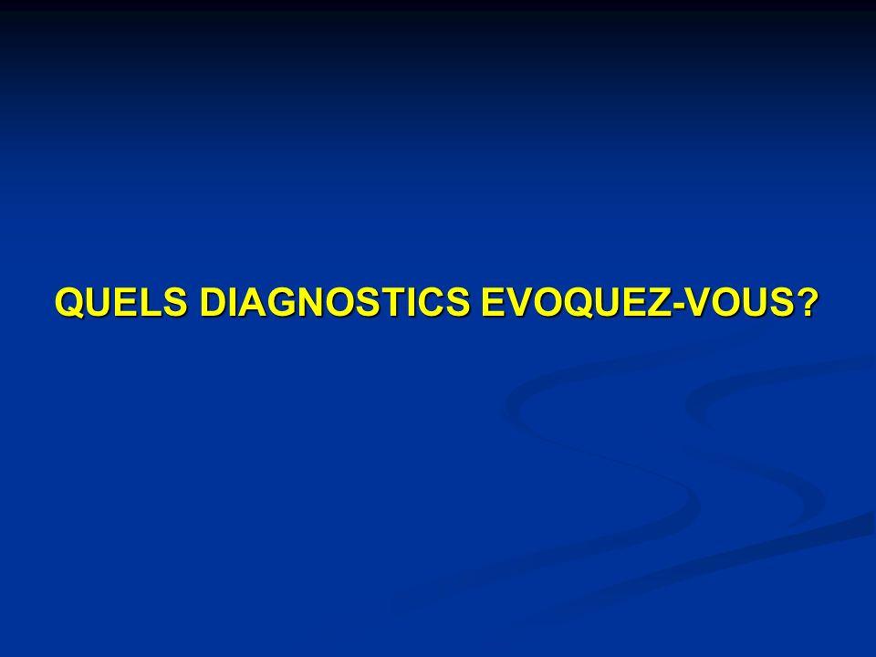 QUELS DIAGNOSTICS EVOQUEZ-VOUS?