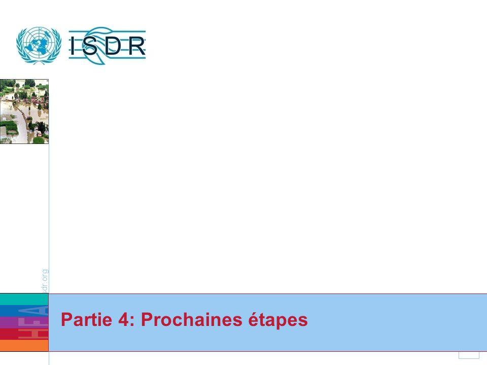 www.unisdr.org 34 Partie 4: Prochaines étapes