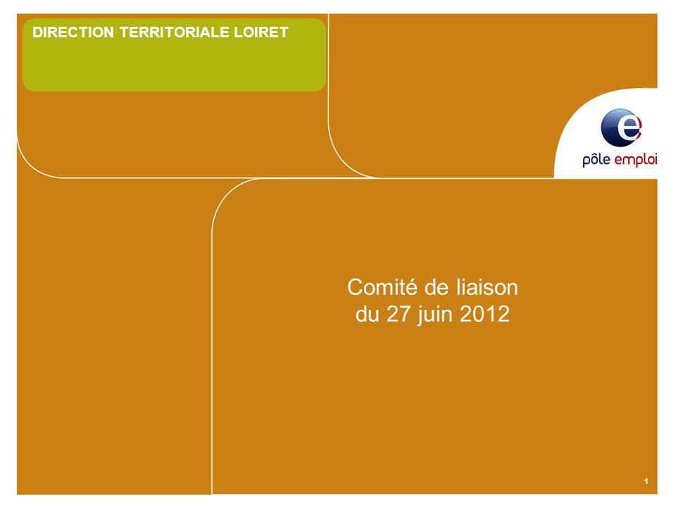 1 Comité de liaison du 27 juin 2012 DIRECTION TERRITORIALE LOIRET