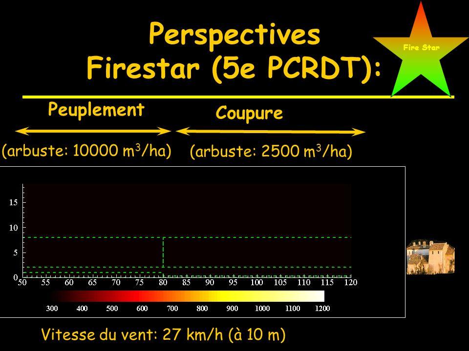 Evolution du rapport hauteur de flamme/hauteur de combustible en fonction des conditions de vent Transition Feu de surface / feu de cime U H =4 m/s, H
