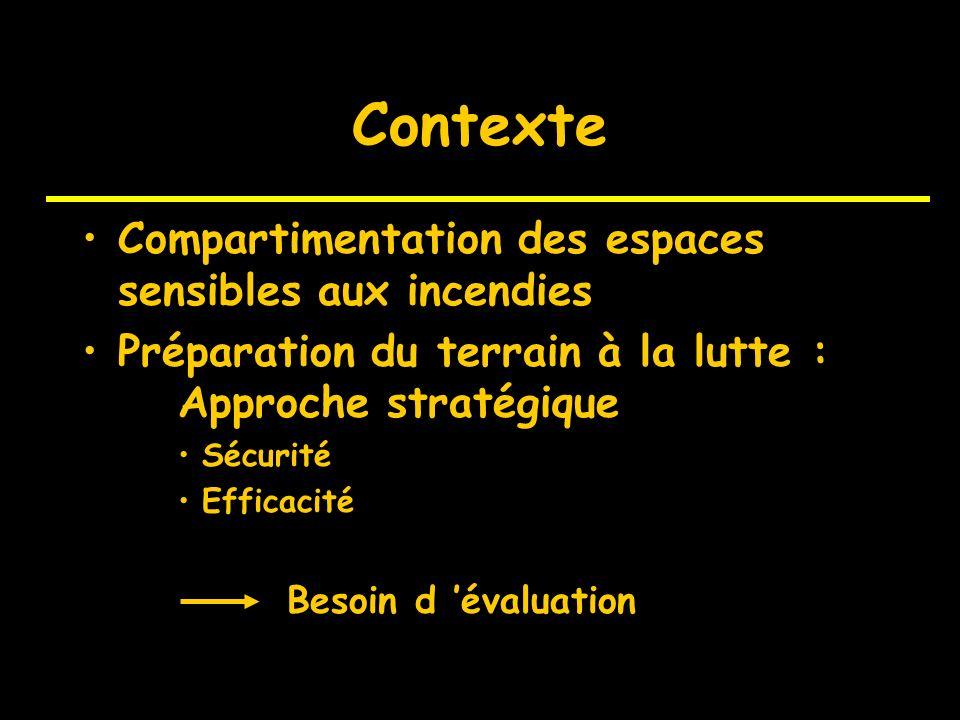 Evaluation de l efficacité des coupures de combustible Colloque de restitution du GIS Incendie de Forêt 4 décembre 2002, Marseille INRA, Avignon (+CIR