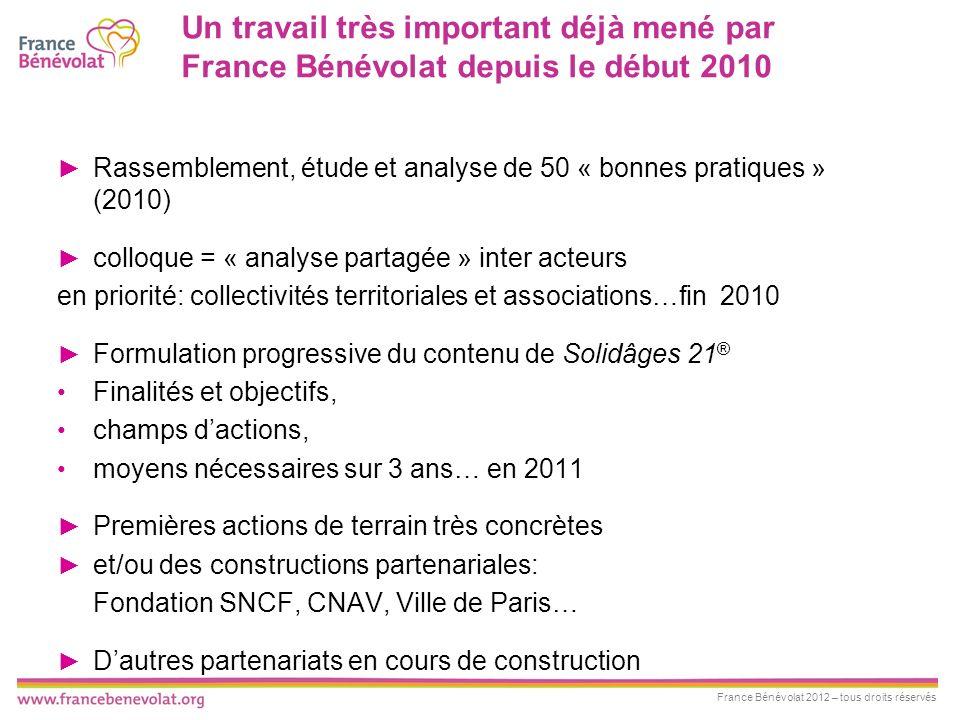 France Bénévolat 2012 – tous droits réservés Les objectifs de Solidâges 21 ® 1.