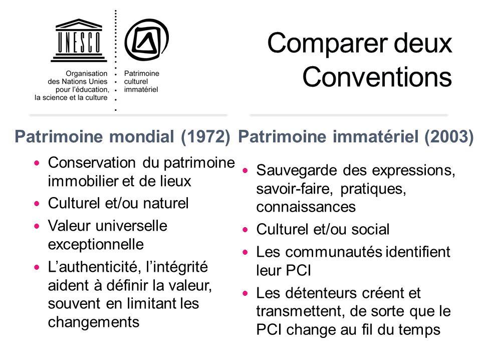 """Pr�sentation """"UNESCO Section du patrimoine culturel immat�riel ..."""