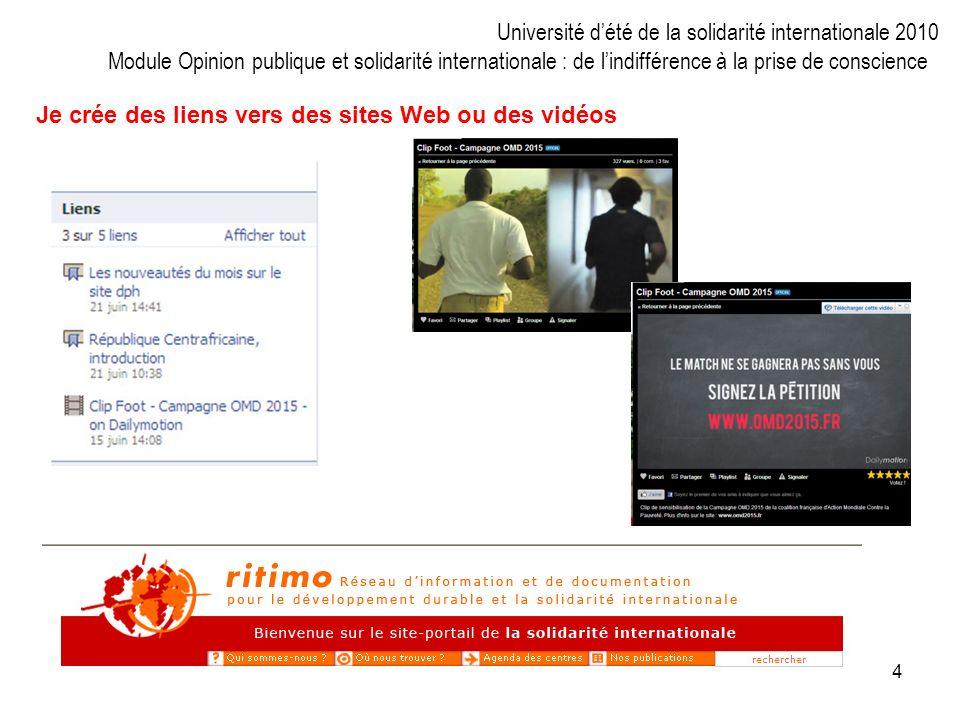 4 Je crée des liens vers des sites Web ou des vidéos