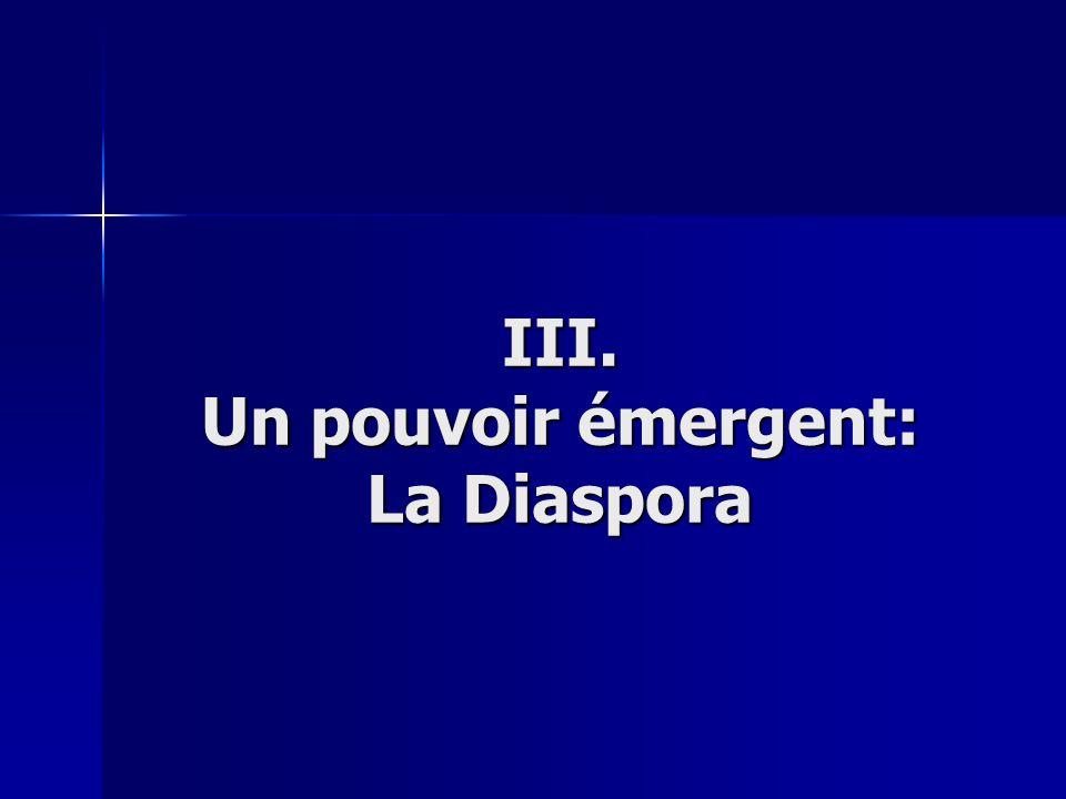 III. Un pouvoir émergent: La Diaspora