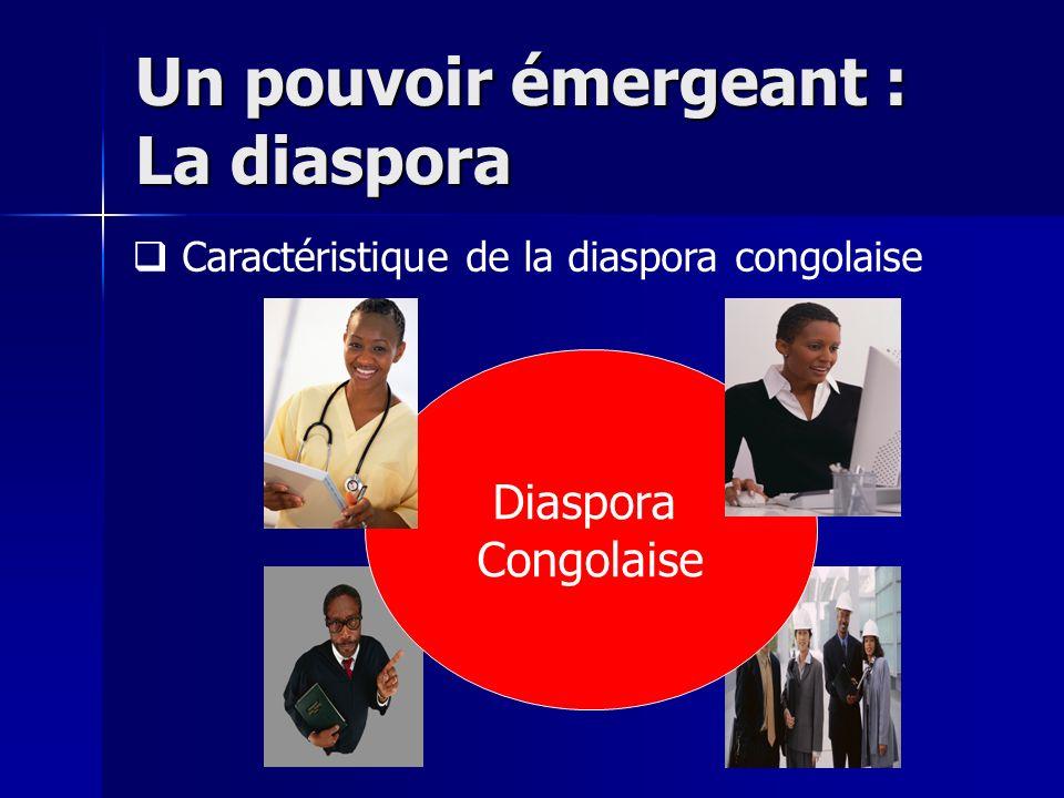 Un pouvoir émergeant : La diaspora Diaspora Congolaise Caractéristique de la diaspora congolaise