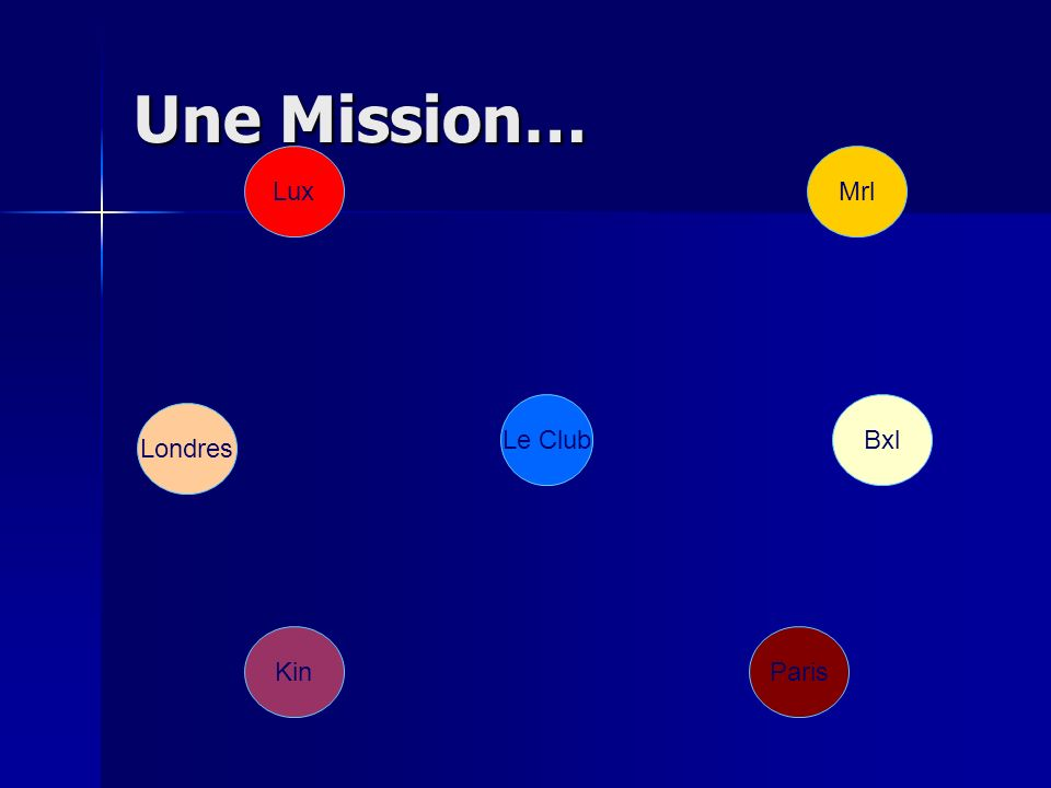 Une Mission… Le Club Paris Londres Bxl Kin MrlLux