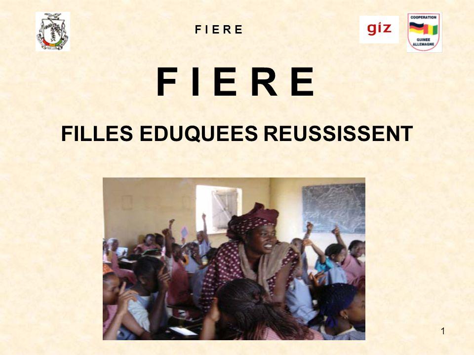 F I E R E 1 FILLES EDUQUEES REUSSISSENT