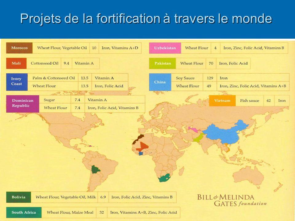 Projets de la fortification à travers le monde