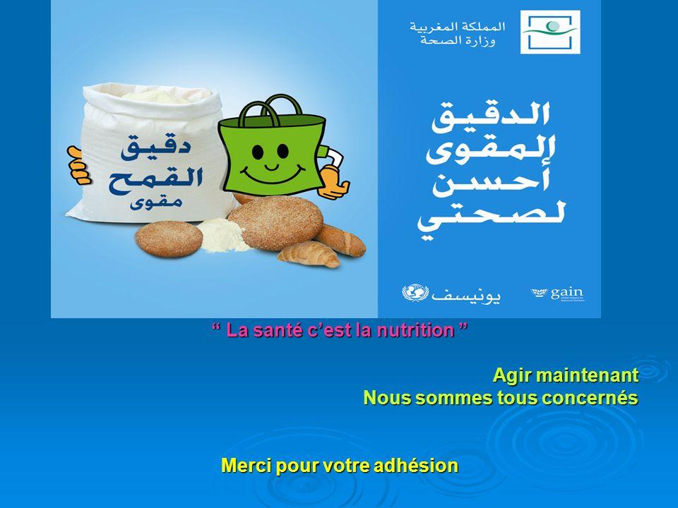 La santé cest la nutrition La santé cest la nutrition Agir maintenant Nous sommes tous concernés Merci pour votre adhésion