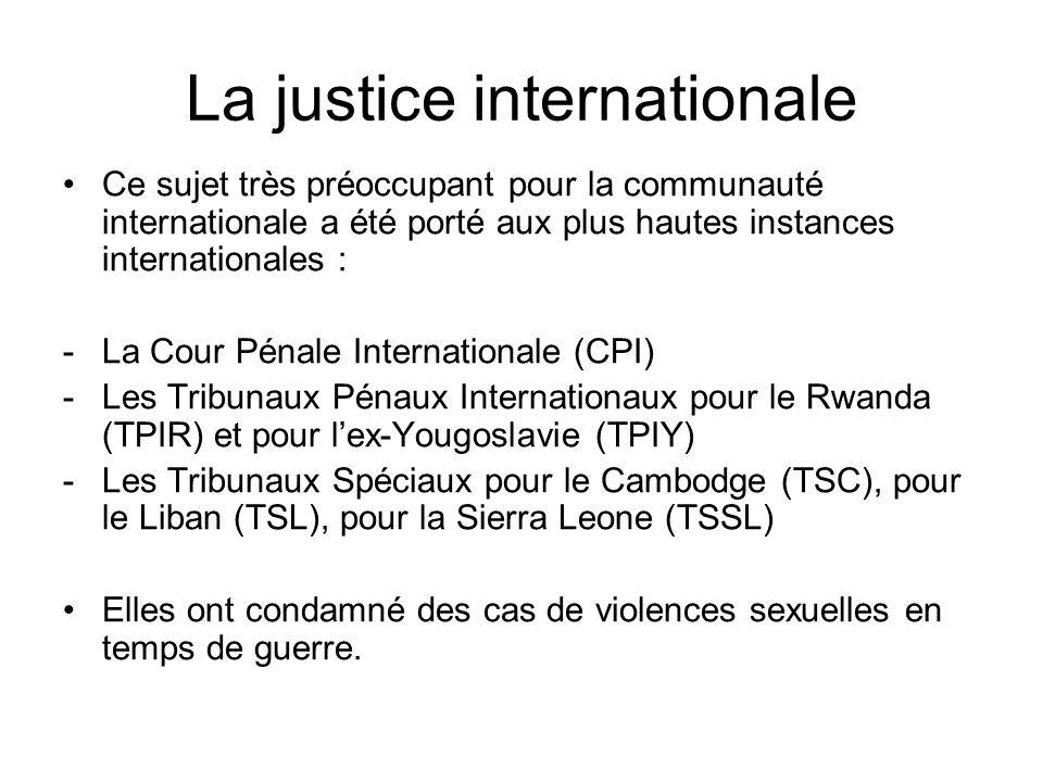 Plaidoyer de la société civile La société civile, cest-à-dire de nombreuses organisations, ONG et associations qui travaillent pour lutter contre le phénomène du viol comme tactique de guerre.