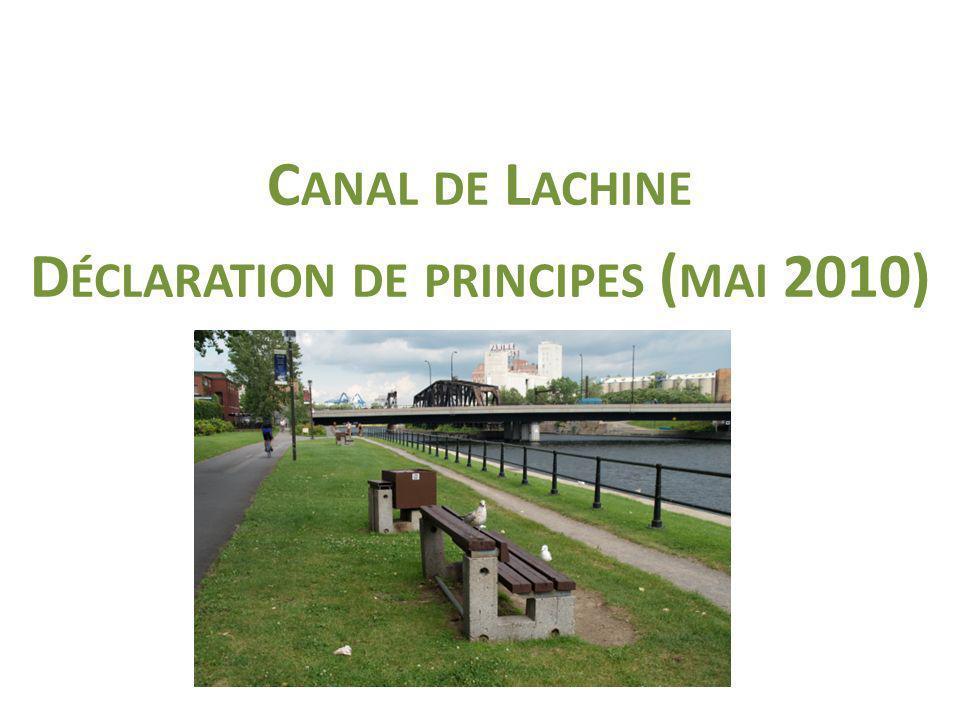 C ANAL DE L ACHINE D ÉCLARATION DE PRINCIPES ( MAI 2010)
