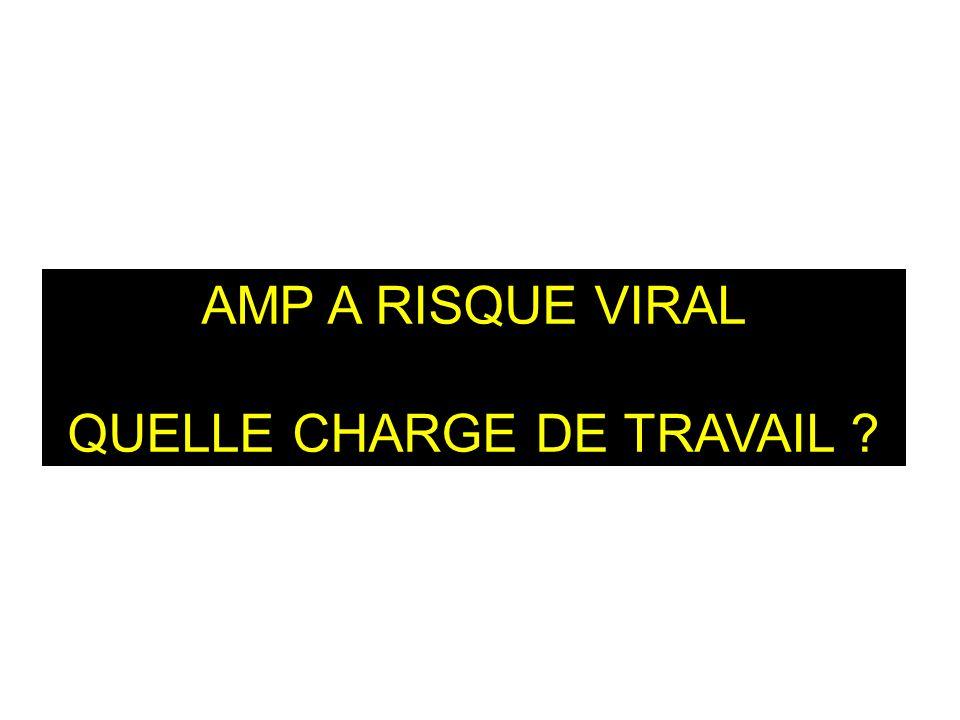 AMP A RISQUE VIRAL QUELLE CHARGE DE TRAVAIL ?