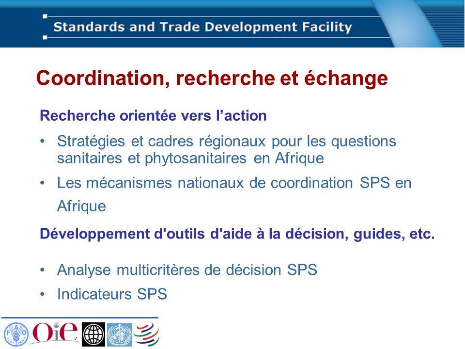 Recherche orientée vers laction Stratégies et cadres régionaux pour les questions sanitaires et phytosanitaires en Afrique Les mécanismes nationaux de