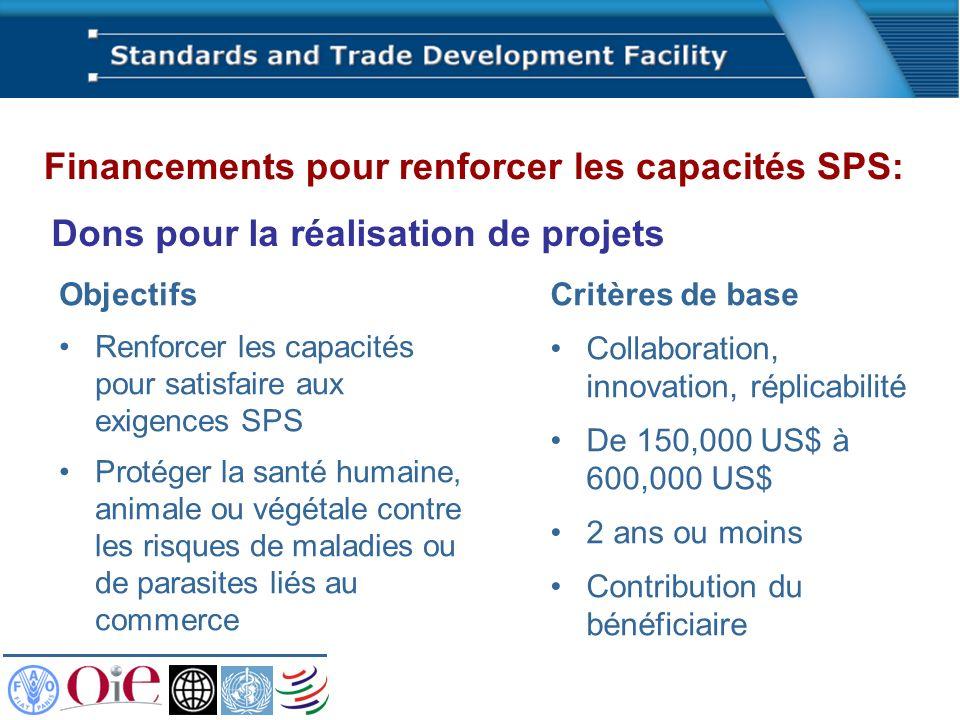 Dons pour la réalisation de projets Critères de base Collaboration, innovation, réplicabilité De 150,000 US$ à 600,000 US$ 2 ans ou moins Contribution