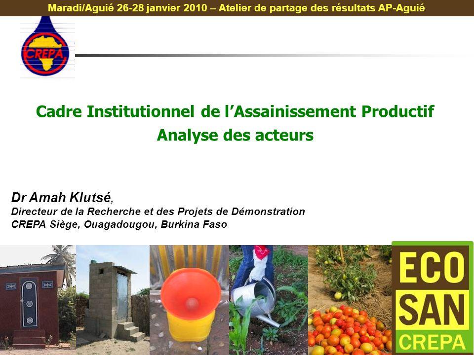 """Pr�sentation """"Dr Amah Kluts�, Directeur de la Recherche et des ..."""