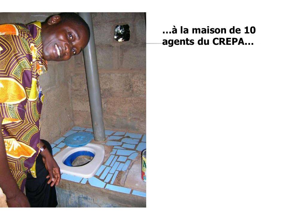 …à la maison de 10 agents du CREPA…