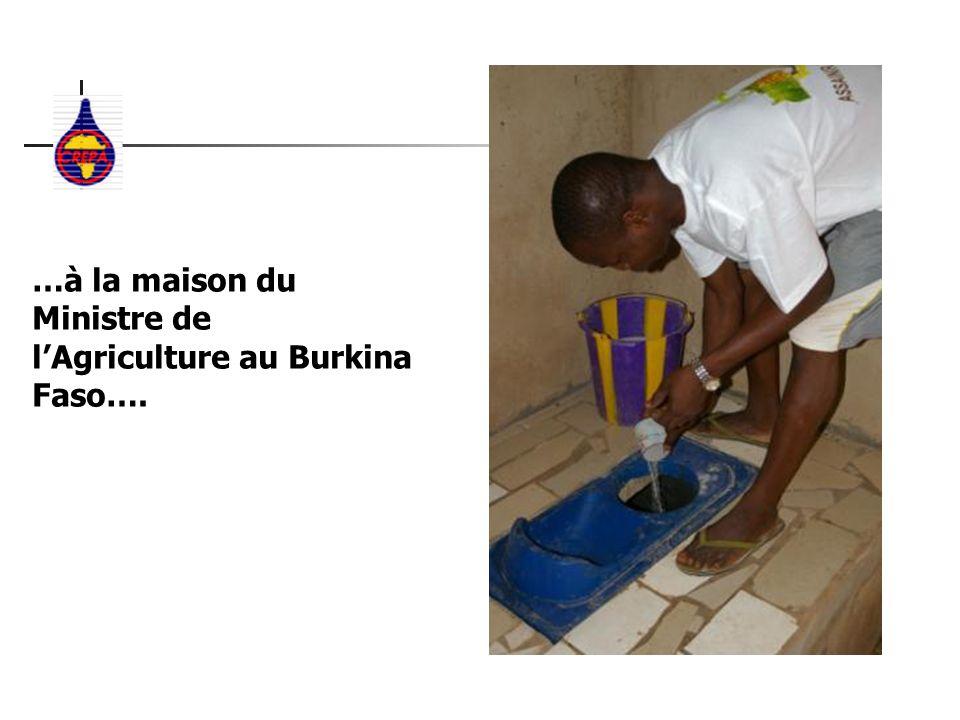 …à la maison du Ministre de lAgriculture au Burkina Faso….