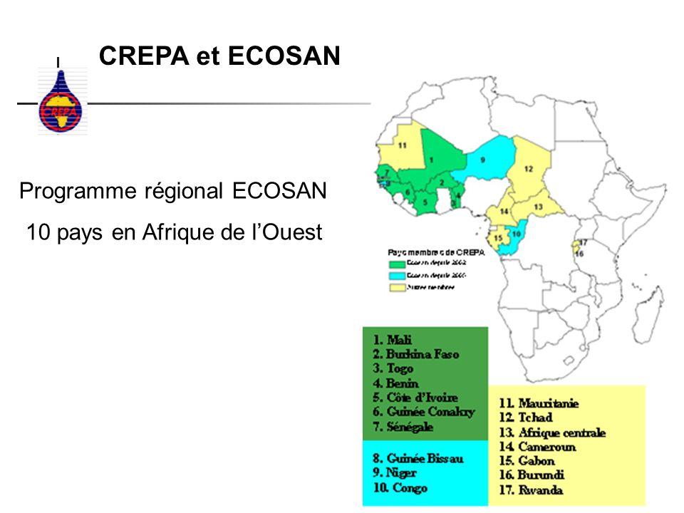 CREPA et ECOSAN Programme régional ECOSAN 10 pays en Afrique de lOuest
