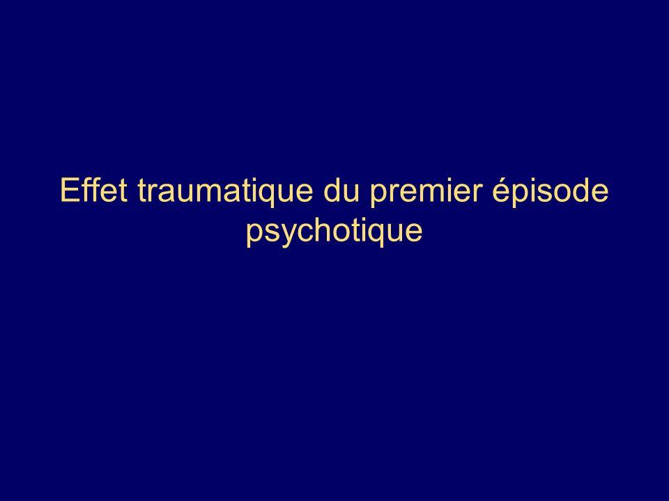 Effet traumatique du premier épisode psychotique