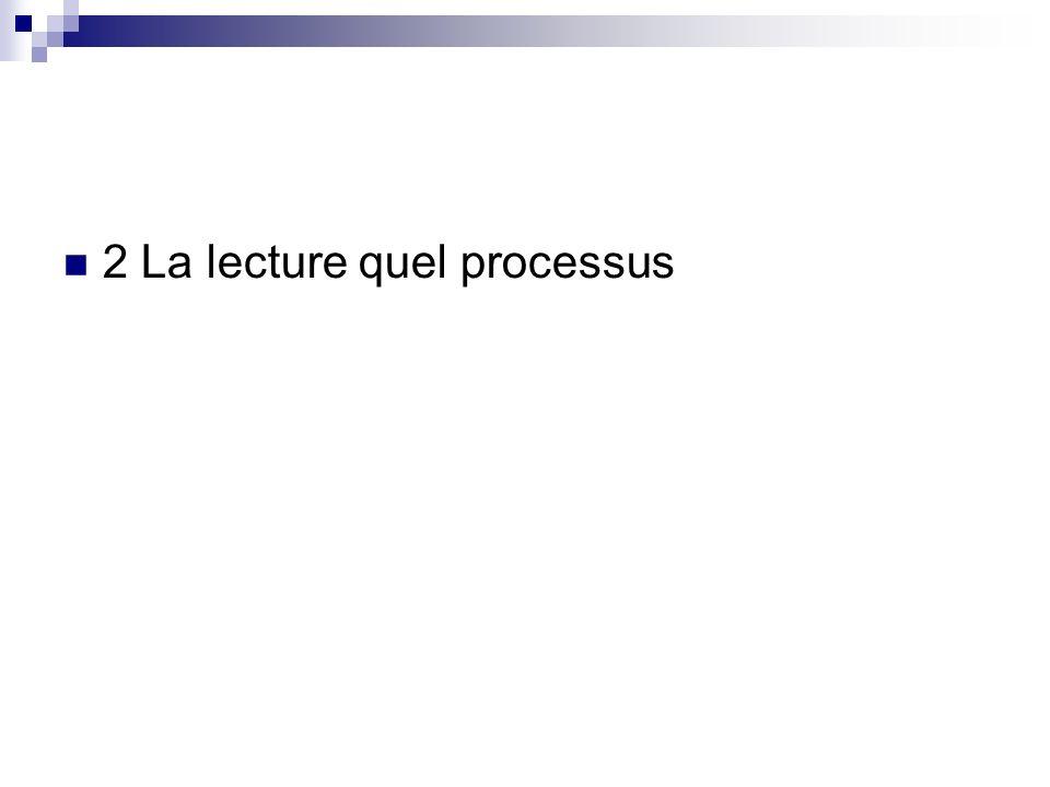 2 La lecture quel processus