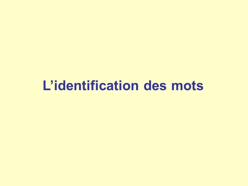 Lidentification des mots