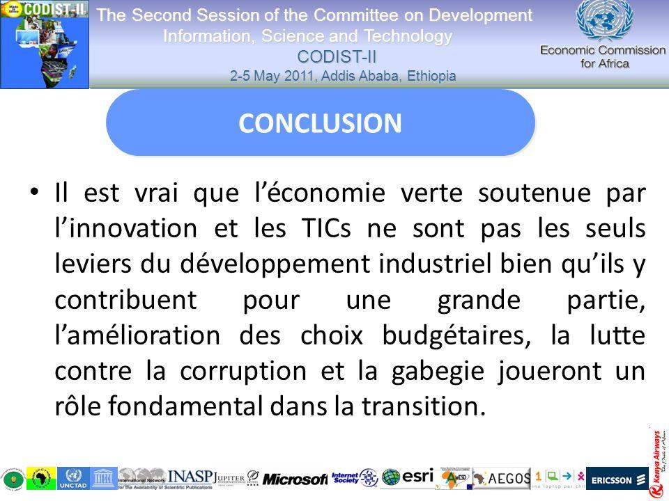 Il est vrai que léconomie verte soutenue par linnovation et les TICs ne sont pas les seuls leviers du développement industriel bien quils y contribuen