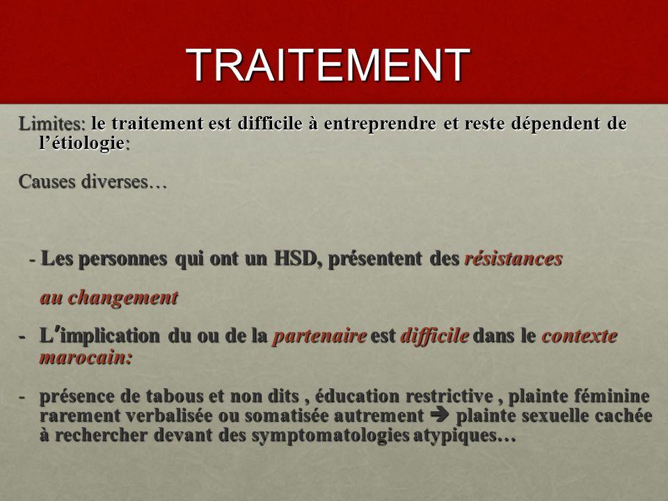 TRAITEMENT Le rôle du médecin sera celui découter, dexpliquer, et de conseiller.