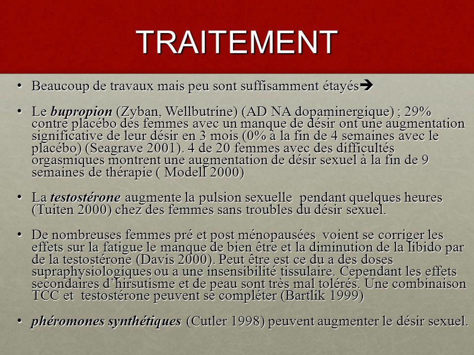 TRAITEMENT A.La psychothérapie stt cognitivo-comportementale(modèle de Basson) 4.