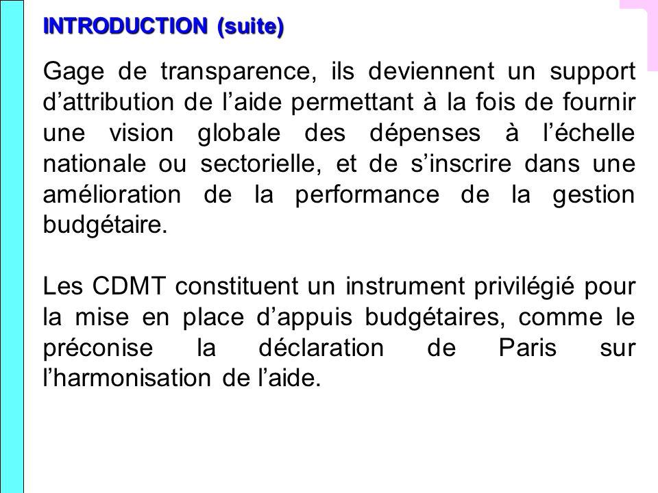 V Propositions de méthodes délaboration du processus CDMT au Niger Le CDMT, en tant qu outil dopérationnalisation de la SDRP 2008-2012, implique un triple effort: disposer dun lien clair entre cadrage macroéconomique et SRP/OMD (ce qui implique à la base danalyser mieux les relations entre macroéconomie et pauvreté); affiner les prévisions de ressources (dont les recettes fiscales); garantir la cohérence entre le CBMT global (avec ses objectifs économiques et sociaux) et les budgets- programmes sectoriels (avec leurs programmes, coûts et résultats sectoriels attendus).