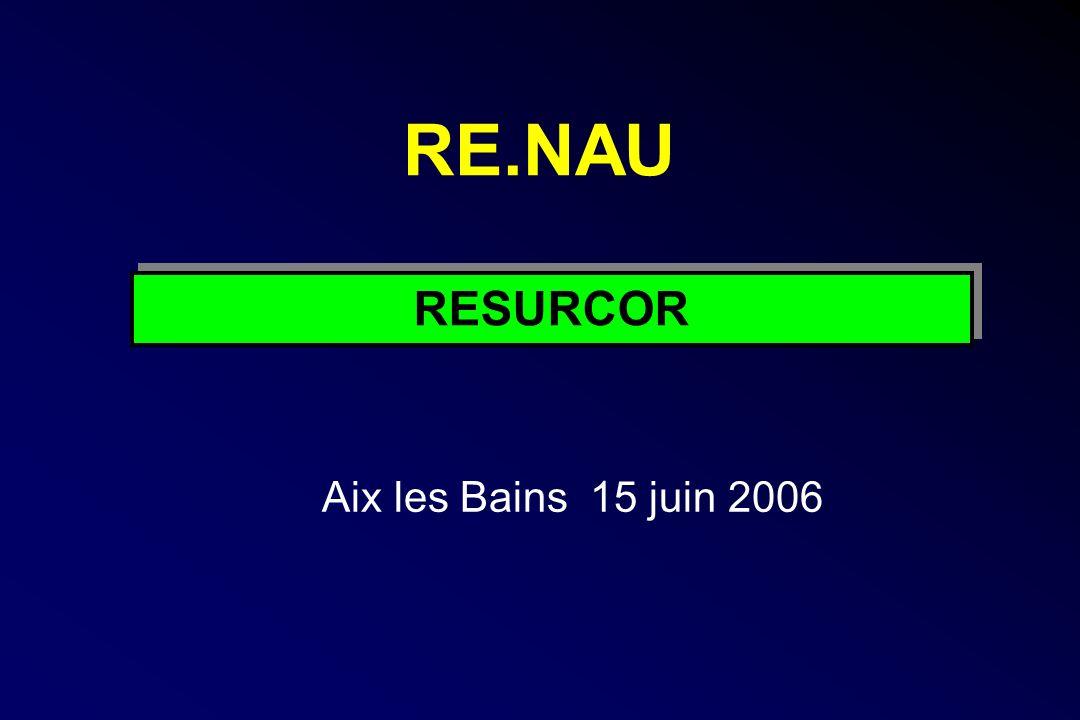RE.NAU Aix les Bains 15 juin 2006 RESURCOR