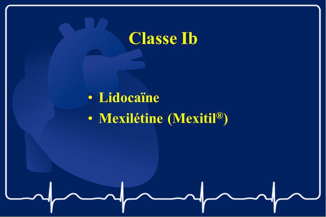 Classe Ib Lidocaïne Mexilétine (Mexitil ® )