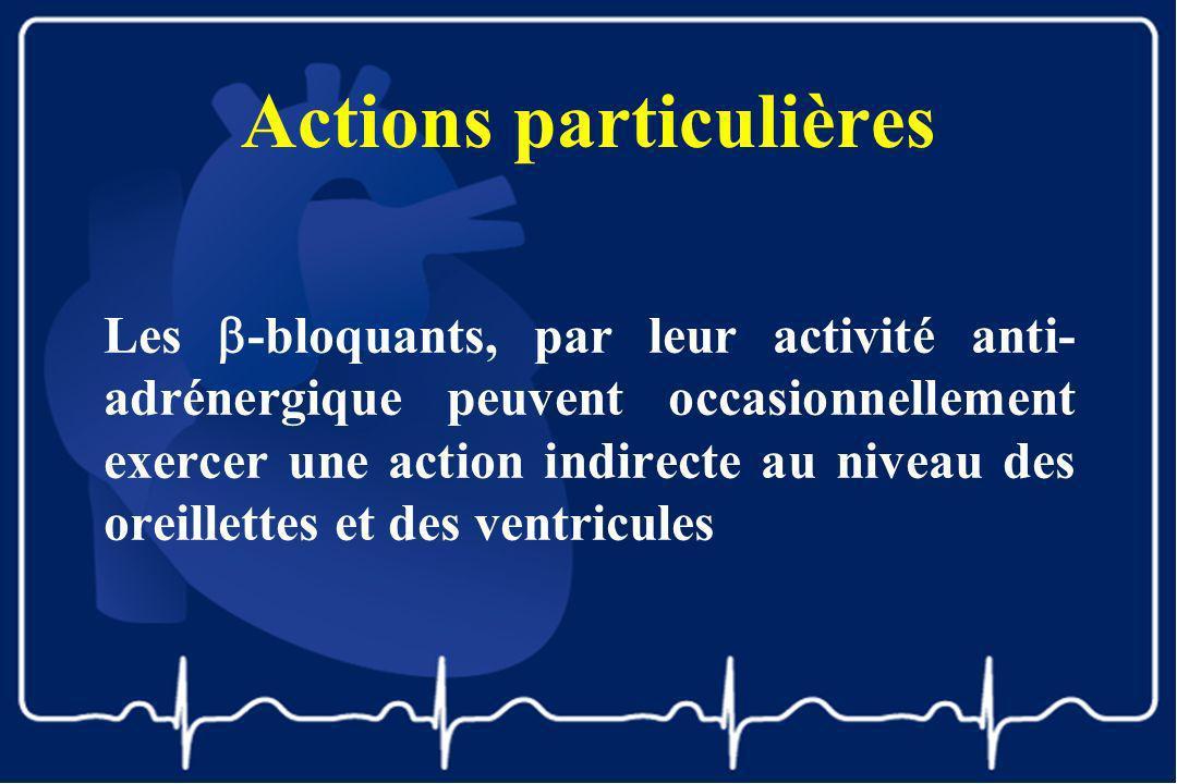 Actions particulières Les -bloquants, par leur activité anti- adrénergique peuvent occasionnellement exercer une action indirecte au niveau des oreill