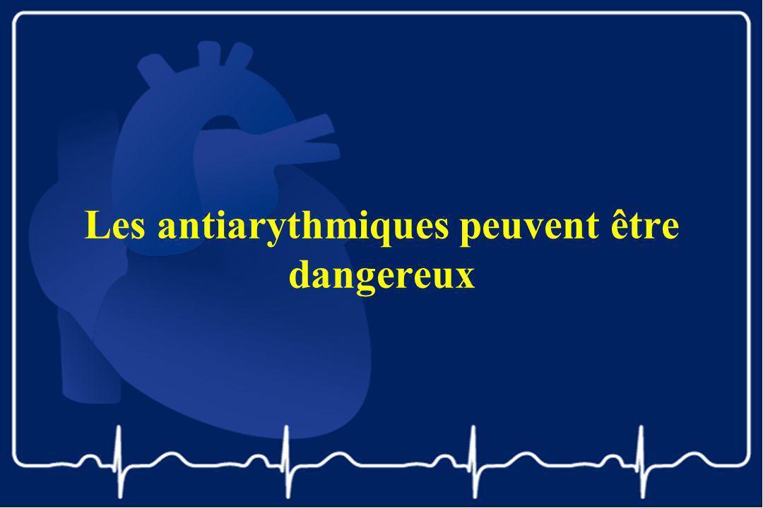 Les antiarythmiques peuvent être dangereux