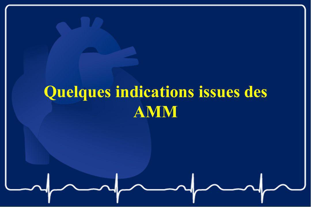 Quelques indications issues des AMM