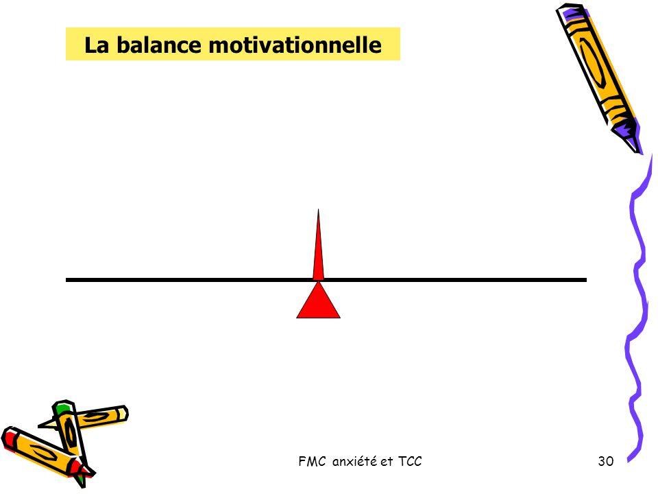 FMC anxiété et TCC30 La balance motivationnelle