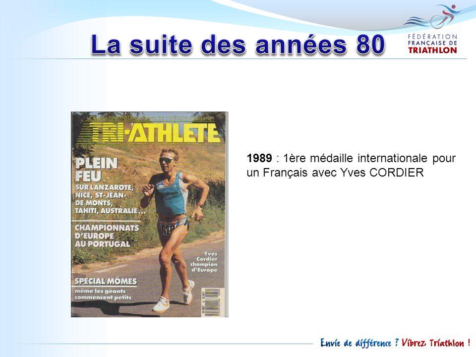 1989 : 1ère médaille internationale pour un Français avec Yves CORDIER