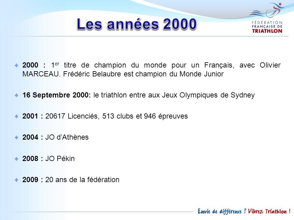 2000 : 1 er titre de champion du monde pour un Français, avec Olivier MARCEAU. Frédéric Belaubre est champion du Monde Junior 16 Septembre 2000: le tr