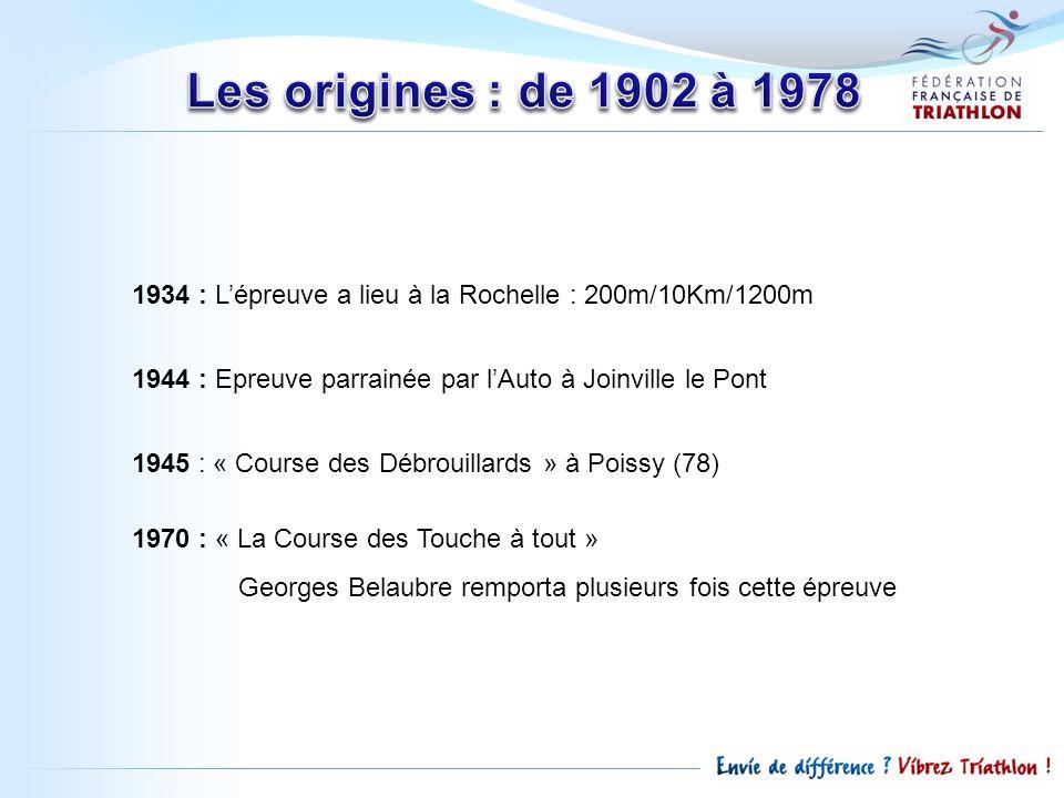 1934 : Lépreuve a lieu à la Rochelle : 200m/10Km/1200m 1944 : Epreuve parrainée par lAuto à Joinville le Pont 1945 : « Course des Débrouillards » à Po