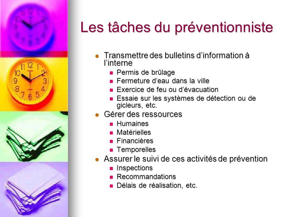 Les tâches du préventionniste 2.Étudier des plans et des devis 2.