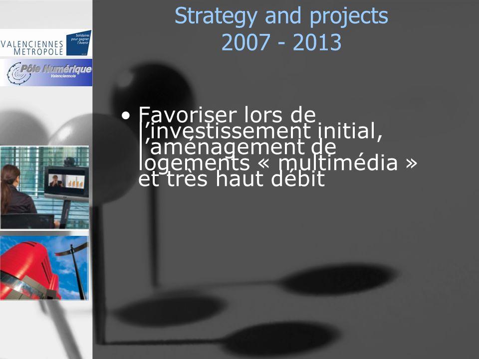Strategy and projects 2007 - 2013 Favoriser lors de linvestissement initial, laménagement de logements « multimédia » et très haut débit